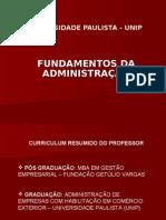 Apresentacao Fundamentos da Administração