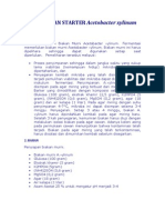 PEMBUATAN STARTER Acetobacter Xylinum