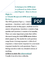 Answering Techniques for SPM 2010 Biology Paper 3