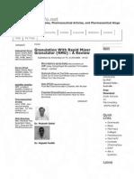 Granulation With Rapid Mixer Granulator (RMG) _ a Review _ Pharma Info