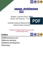 ARM Processor Architecture (II)
