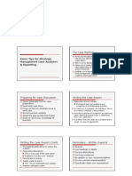 Tips on Case Analysis Reports & Presentations