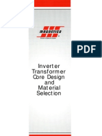 Inverter Transformer Design and Core Selection
