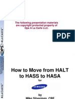 HALT to HASS to HASA