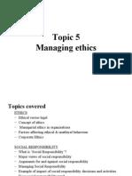 2009 Topic 5 Ethics