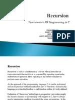 Recursion in C/C++