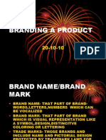 Branding a Product