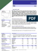 Daniel Stewart VYKE report - Sept 2007