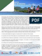 Carta de La Ninez para la Reducción de Desastres