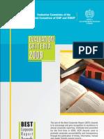 Criteria 2009
