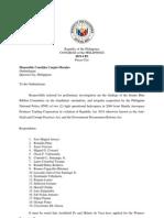 Senate Blue Ribbon Committee Ombudsman Complaint vs Mike Arroyo, Et. Al