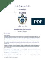 Ripa Montesano, Balaustra prot  gm 13-2010, Gran Maestro, Massoneria Universale, Gran Loggia Phoenix