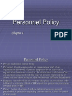 1.Personnel Policy