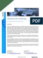 Closing the Print Security Gap