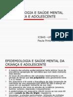 EPIDEMIOLOGIA E SAÚDE MENTAL DA CRIANÇA E ADOLESCENTE