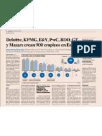 Deloitte, KMPG, E&Y, PwC, BDO, GT y Mazars crean 900 empleos en España