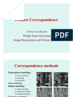 Ifsr Feature Correspondence