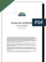 Energy star certification Whitepaper