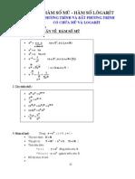 chuyên đề 6 - hàm số mũ - hàm số logarit ,phương trình và bất phương trình có chứa mũ và logarit
