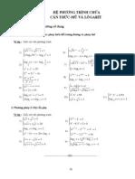 chuyên đề 6 -hệ phương trình chứa căn thức - mũ và logarit