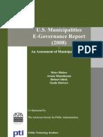 U S Municipalities E-Governance Report 2008