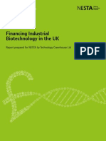 Financing Industrial Biotechnology in the UK