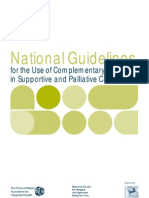 National Guidelines for the Use of Complementary Therapies in Supportive and Palliative Care