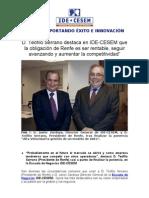 Teófilo Serrano (Presidente de RENFE) en IDE-CESEM Escuela de Negocios
