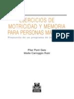 Ejercicios de Motrocidad y Memoria