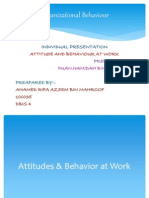 Attitudes and Behavior