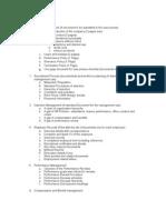 List of HR Activities