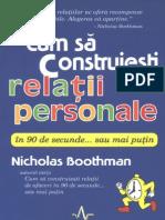 Boothman Nicholas - Cum Sa Construiesti Relatii Personale v. 1.0