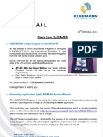 Kleemann NewsFax/Mail (10/2011) english version
