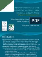 2 Kristin Dunkle MSM and HIV SVRI 2011 v1