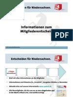 Entscheiden für Niedersachsen. - Informationen zum Mitgliederentscheid