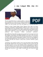 What is the Jan Lokpal Bill