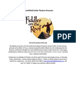 Fiddler on the Roof Advertisement