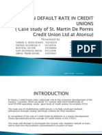 High Loan Default Rate in Credit Unions