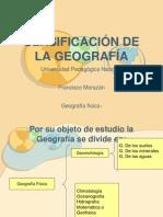 CLASIFICACIÓN DE LA GEOGRAFÍA
