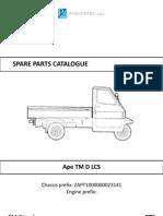 Ersatzteilkatalog Piaggio Ape TM D LCS