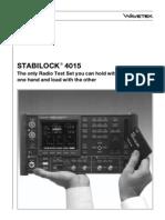 Stabilock 4015 Sales Brochure