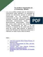 Instrumentos Jurídicos Importantes de Zonas Fronterizas con Bolivia