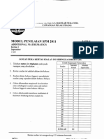 Add Maths Paper 1 Penang Malaysia SPM 2011 Trial Paper
