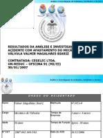 Analise e Investigacao de Acidentes Incidentes e Desvios