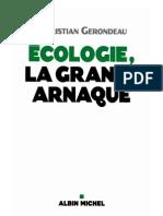 Ecologie La Grande Arnaque