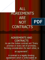 All Agreements Are Not Contracts