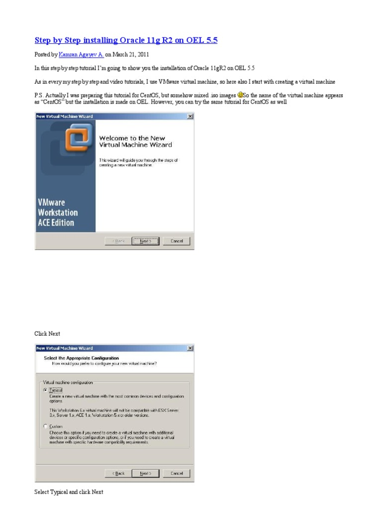 Step by step installing oracle 11g r2 on oel installation step by step installing oracle 11g r2 on oel installation computer programs virtual machine baditri Gallery