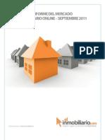 Informe del Mercado Inmobiliario  Online Septiembre 2011
