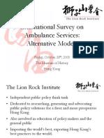 4- Intl Survey Ambulances (a Work) Lion Rock Inst_e