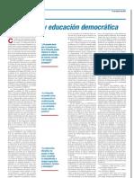 Filosofía y Educación Democrática